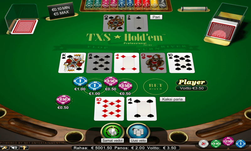 Texas Hold'em sivustolla