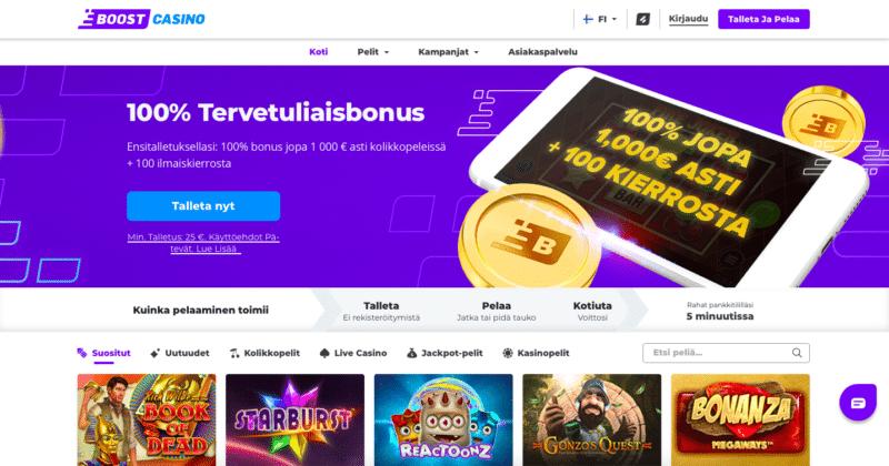 Boost Casinon etusivu