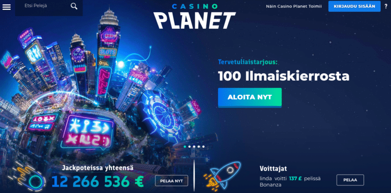 Casino Planet etusivu