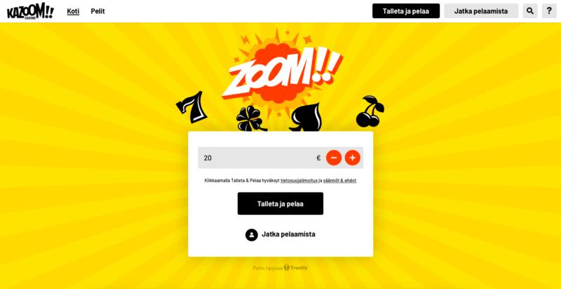 Kazoom Casino etusivu