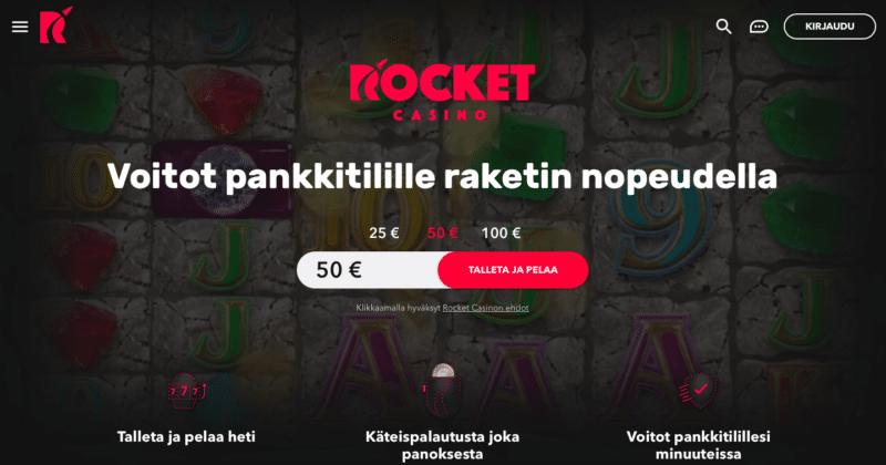 Rocket Casino etusivu