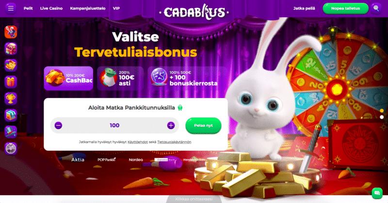 Cadabrus Casino etusivu